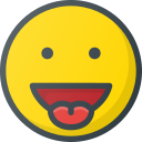 emoji, emote, emoticon, emoticons, stretch, tongue icon