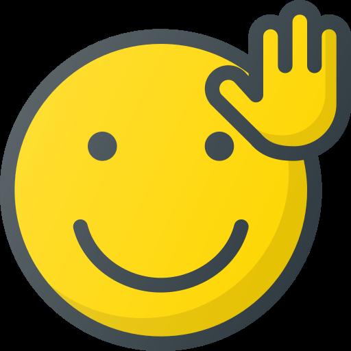 emoji, emote, emoticon, emoticons, waveing icon