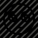 emoji, emoticon, face, hypnotized, like icon