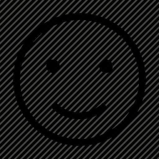 emoji, emoticon, face, happy, like, smile icon