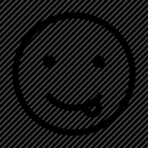 emoji, emoticon, face, like, stretch, tongue icon