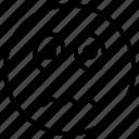 emotag, emoticon, expression, guilty emoji, guilty face icon