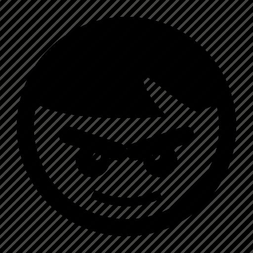 confident, emoji, emoticons, smiley, sure icon