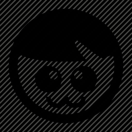 adorable, big eyes, cute, emoji, emoticons icon
