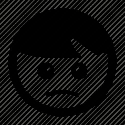 emoji, emoticons, sad, unhappy, upset icon