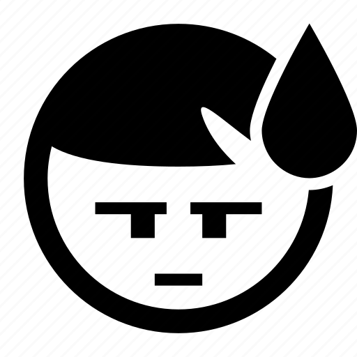 Cold sweat, emoji, emoticons, scared, smiley, sweat, terrified icon - Download on Iconfinder