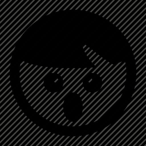 emoji, emoticons, mouth open, shock, smiley, surprise icon