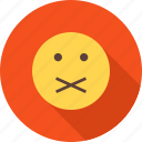communication, quiet, round, sound, stop, talk, warning icon