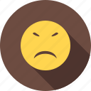 angry, emotion, expression, irritated, sad, stubborn, upset icon