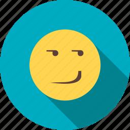 expression, happy, mood, person, smile, smirk, smirking icon