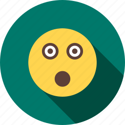 face, looking, panic, shock, shocked, surprise, surprised icon