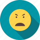 anger, angry, crazy, expression, frustration, shout, upset icon