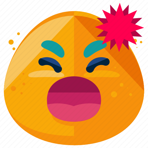 Angry, emoji, emoticon, emotion, shout, smiley, yell icon - Download on Iconfinder