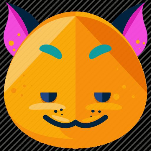 cat, emoji, emoticon, emotion, face, smile, smiley icon