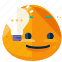 emoji, emoticon, face, idea, lightbulb, smiley icon