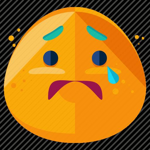 anxious, doubt, emoji, emoticon, face, smiley, worried icon