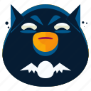 batman, emoji, emoticon, face, smiley, superhero icon