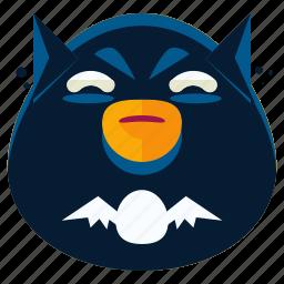 batman, emoji, emoticon, face, smiley, superhero icon