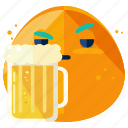 beer, beverage, drink, emoji, emoticon, smiley icon