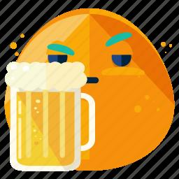 beer, beverage, drink, emoji, emoticon, smiley icon