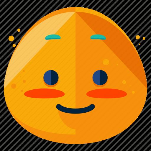 blush, emoji, emoticon, emotion, face, shy, smiley icon