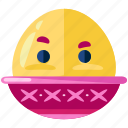 boiled, egg, emoji, emoticon, emotion, face, smiley
