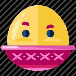 boiled, egg, emoji, emoticon, emotion, face, smiley icon