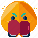 boxer, emoji, emoticon, face, protective, smiley, sport
