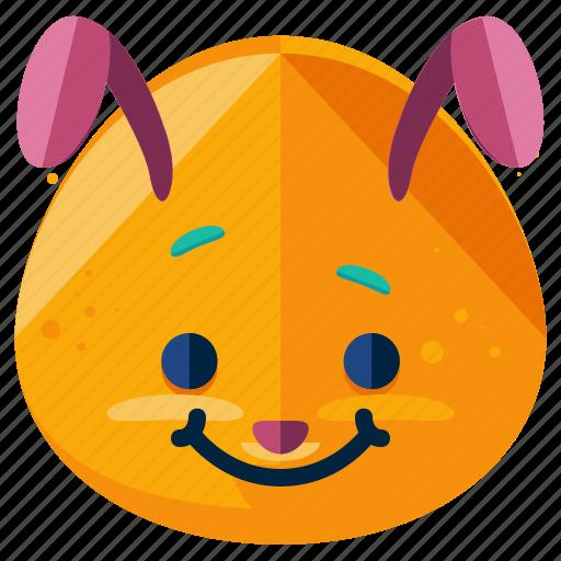 bunny, emoji, emoticon, emotion, face, rabbit, smiley icon