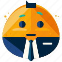 business, emoji, emoticon, emotion, face, smiley icon