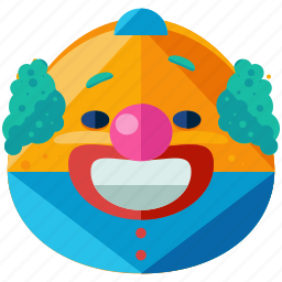 circus, clown, emoticon, emotion, face, smiley icon