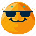 cool, emoticon, emotion, face, smile, smiley, sunglasses icon