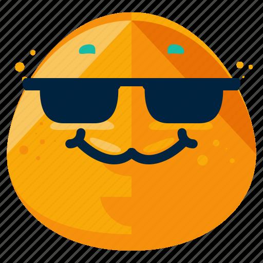 cool, emoticon, emotion, face, smile, smiley, sunglasses icon