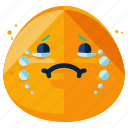 cry, emoticon, emotion, face, sad, smiley icon