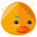 animal, duck, emoji, emoticon, face, smiley icon