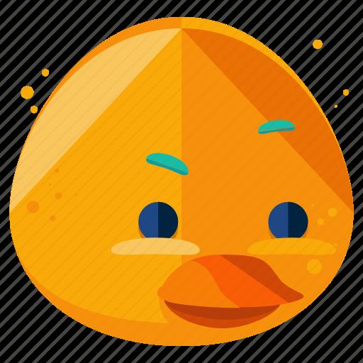 Animal, duck, emoji, emoticon, face, smiley icon - Download on Iconfinder