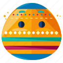 decorated, easter, egg, emoji, emoticon, smiley icon