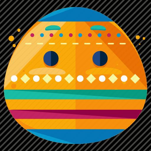 decorated, easter, egg, emoji, emoticon, smiley icon