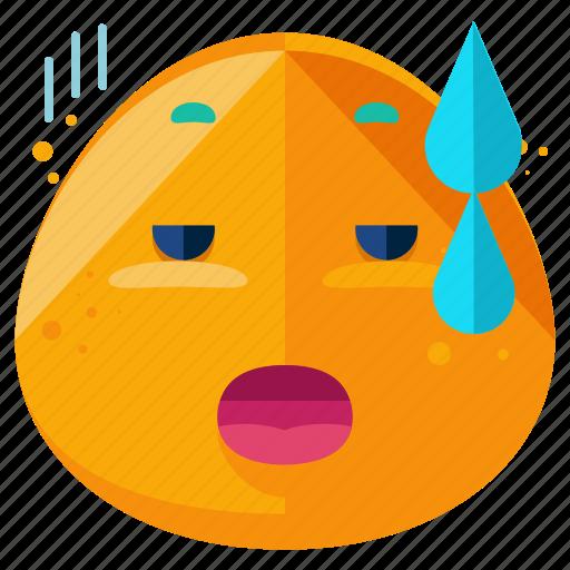 emoji, emoticon, emotion, emotional, smiley, tired icon