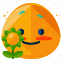emoticon, flower, emoji, emotion, smile, smiley