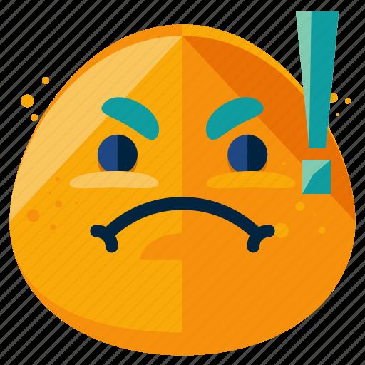 alert, angry, emoji, emoticon, emotion, furious, smiley icon