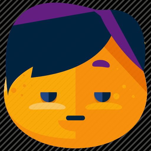 emoji, emoticon, face, goth, smiley icon