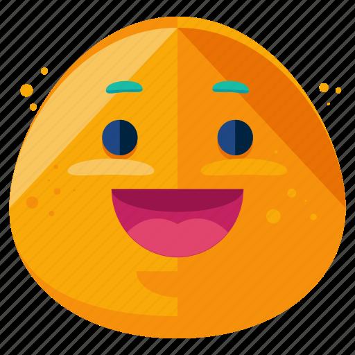 emoji, emoticon, face, grin, happy, smile, smiley icon