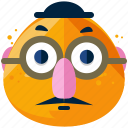 emoji, emoticon, face, glasses, humourous, joke, smiley icon