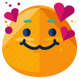 emoji, emoticon, heart, in, love, smile, smiley icon