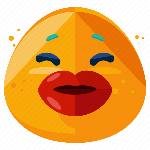 emoji, emoticon, kiss, lips, love, romantic, smiley icon
