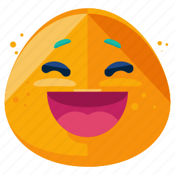 emoji, emoticon, emotion, face, laugh, smile, smiley icon