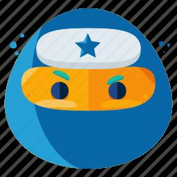emoji, emoticon, face, ninja, smiley icon