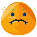 emoji, emoticon, emotion, face, sad, smiley icon