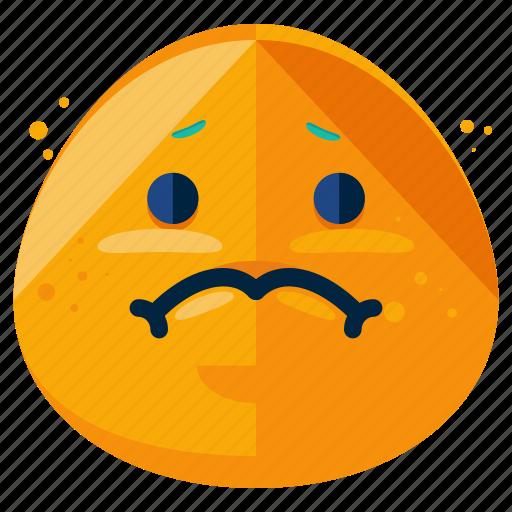 emoji, emoticon, emotion, face, sad, smiley icon